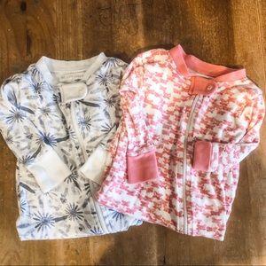 Burt's Bees Baby Pajama Bundle Size 3-6 Months